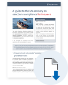 A guide to the UN Advisory for insurers