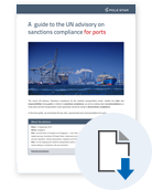 A guide to the UN Advisory for ports