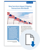 New Sanctions Impact Shipping Transactions Worldwide